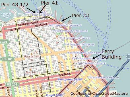 san francisco ferry map san francisco ferryguide sausalito alcatraz more