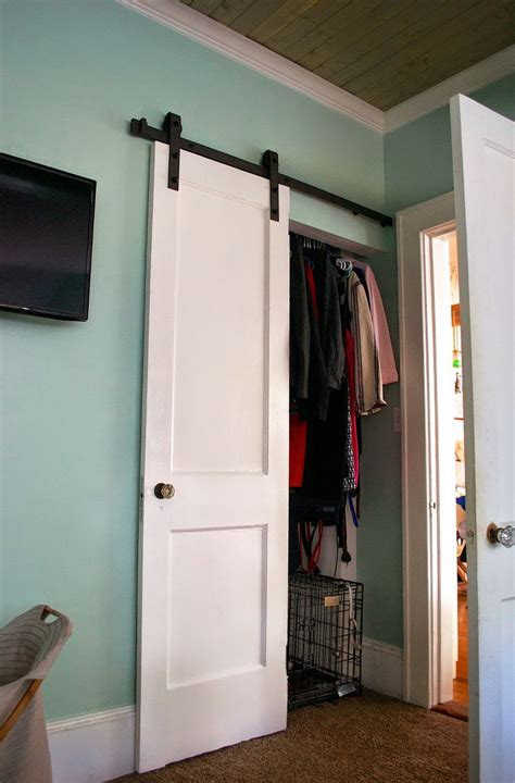Barn Door For Closet Barn Door Closet Doors Lowes Home Design Ideas