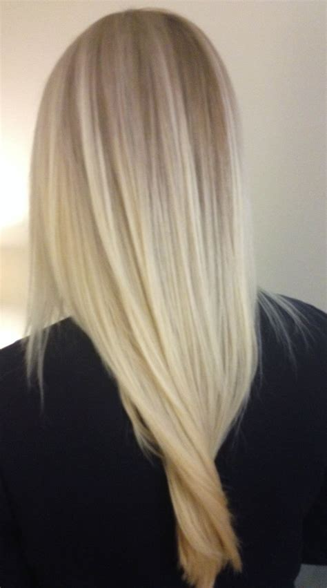 Long light blonde hair with platinum balayage highlights i don t want to bleach my hair ever