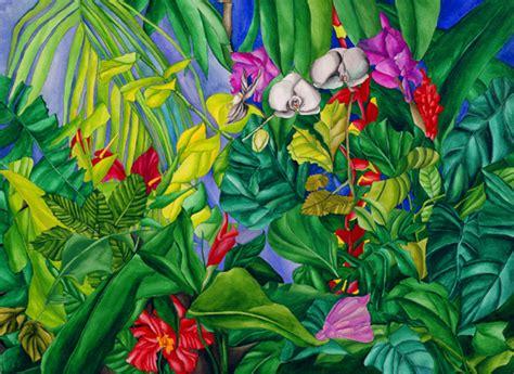 tropical garden ruth daniels artist gallery
