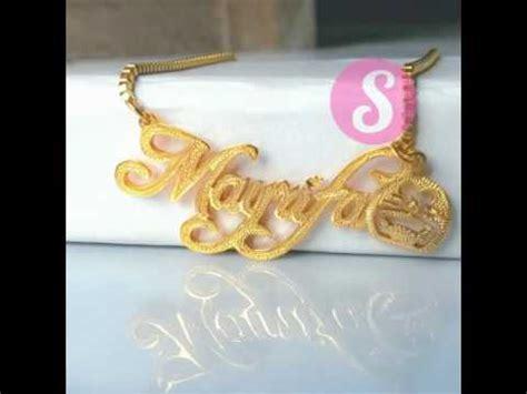 Kalung Nama Mahkota Monel Silver Perhiasan Nama Silver perhiasan kalung nama antik gold silver monel lapis emas
