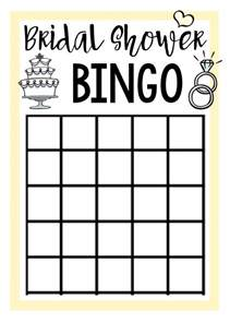 bridal bingo template bridal shower squared