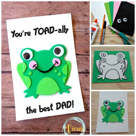 fathers day cards to make toad ally awesome handmade fathers day card views from a