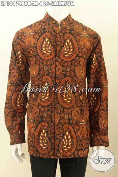 Kemeja Panjang Lengan Panjang Dress Krah batik kemeja kerja lengan panjang elegan busana batik