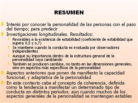 Resumen Y Sus Caracteristicas by Regularidad Y Cambio En La Personalidad Monografias