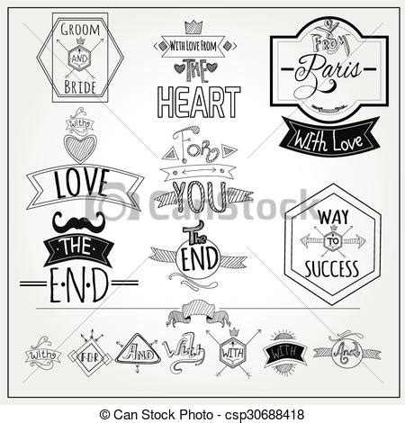 doodle whiteboard free vector clip of retro doodle catchwords emblems