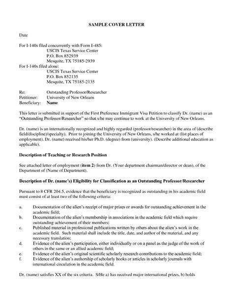 Sle Letter To Uscis For Correction