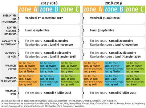 vacances scolaires le calendrier connu jusqu en 2019