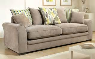 fabric sofas marsden fabric pillowback sofas taupe only 163 399 99