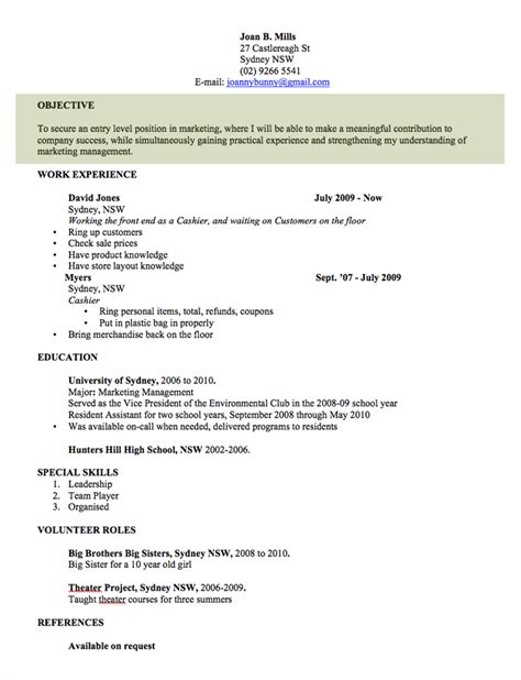 resume template australia word cv template free professional resume templates word