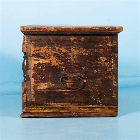 antique hungarian trunk with original brown and yellow paint circa 1840 for sale at 1stdibs