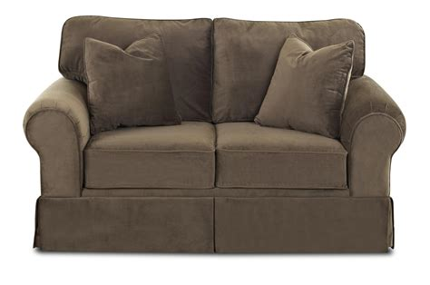 Klaussner Woodwin Upholstered Loveseat Old Brick