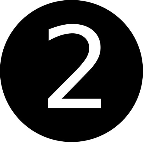2 In 1 Black file 2 number black and white svg wikimedia commons