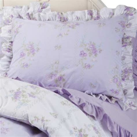 simply shabby chic king comforter set ashwell tiara lilac cottage rose lavender