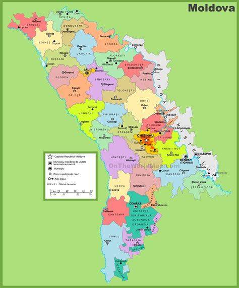 moldova world map administrative divisions map of moldova