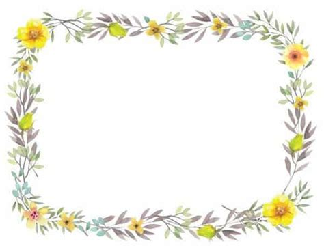 Flowers Card Template Border Of Paper by Free Printable Flower Border