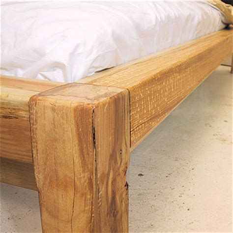 Timber Frame Bed Redhouse Bed Frame 150 Wooden Platform Bed Solid Timber Frame With Leather Upholstered