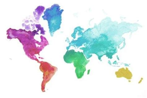 watercolor map tutorial watercolors world and art on pinterest