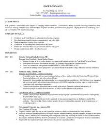 Finance Administrator Sle Resume by Commercial Banking Resume Sales Banking Lewesmr
