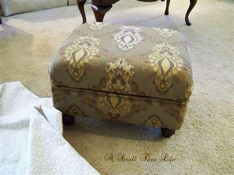how to upholster an ottoman a stroll thru how to upholster an ottoman