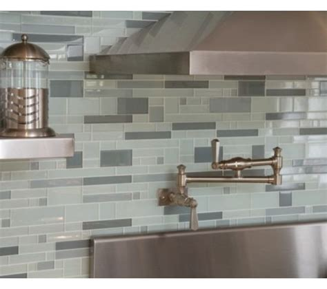 modern glass tile backsplash for kitchens blue backsplash