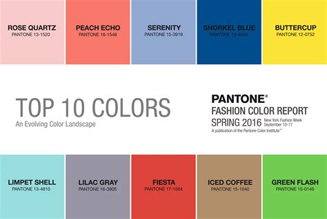 pantone color forecast spring 2016 pantone color palette cottontail design