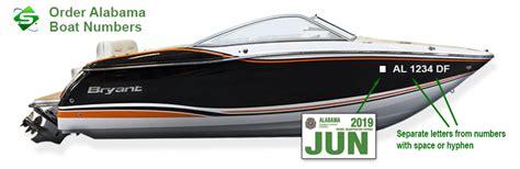 boat registration online alabama information on custom boat registration numbers for alabama