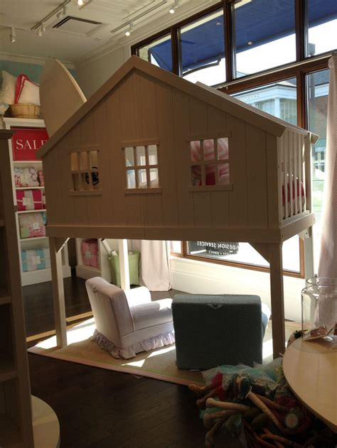 treehouse loft bed pottery barn white tree house loft bed kids room