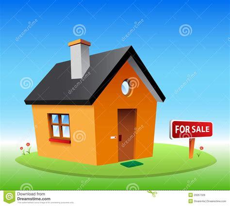 imagenes libres casa casa anaranjada del vector fotos de archivo libres de