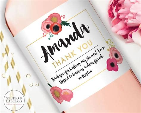 Thank You Card For Bridal Shower Gift - best bridal shower thank you gifts 99 wedding ideas