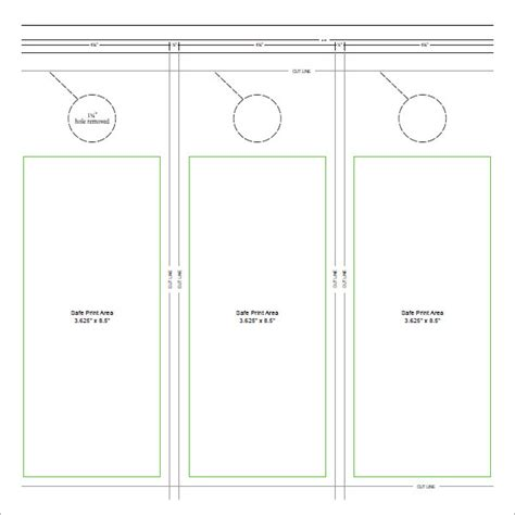15 Door Hangers Sle Templates Door Hanger Template Word