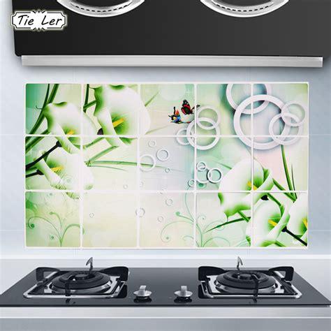 75 45cm flower kitchen wall stickers decal home decor art tie ler 75x45cm kitchen decorations sticker calla