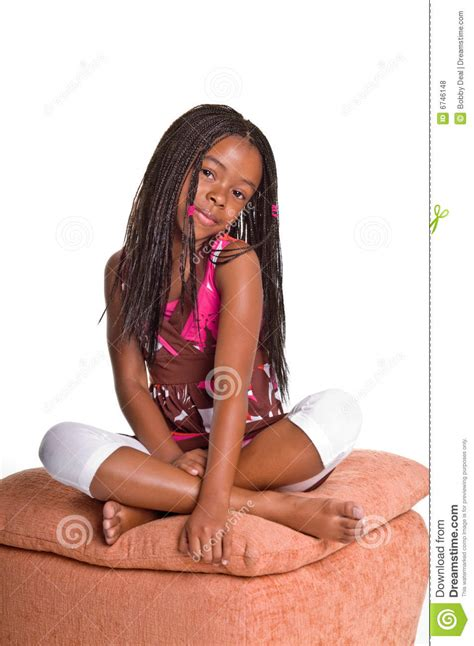 little with braids stock photo image of portrait