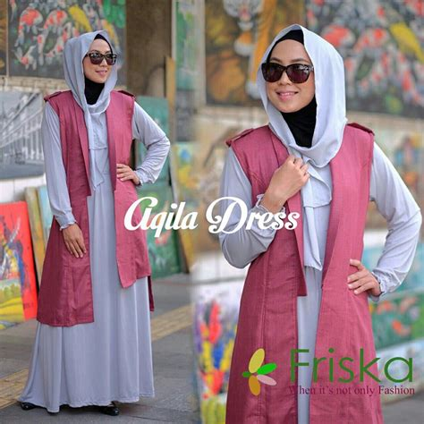 Dress Friska aqila dress set by friska grey