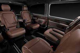 Mercedes V Class Interior New Mercedes V Class Luxury Minivan Pictures And Details