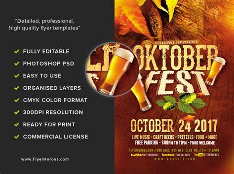 Oktoberfest Flyer Template 2017 Flyerheroes Ad Template 2017