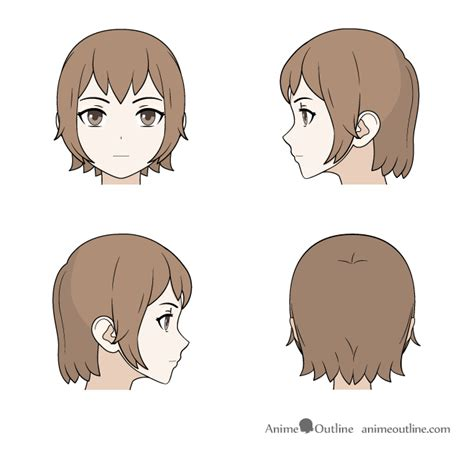 manga hairstyle short long front sides how to draw anime manga male female hair anime outline