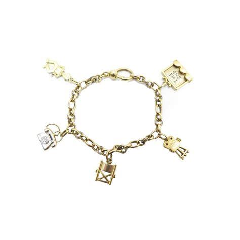 pomellato charms bracelet pomellato en or jaune 18k 45 7 gr charms