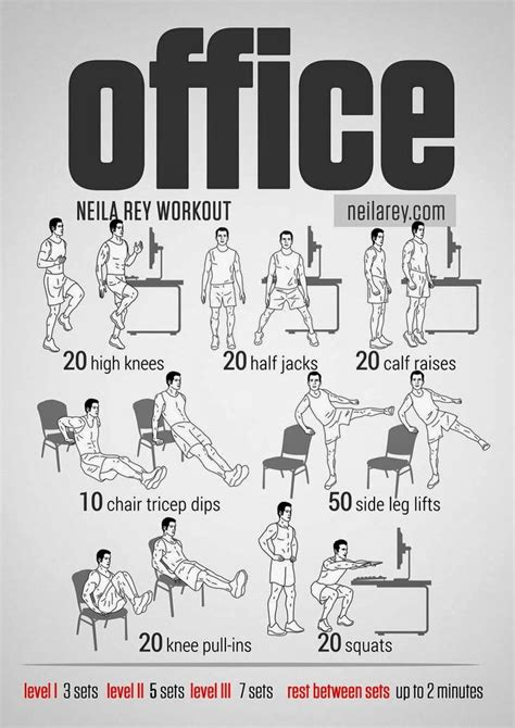 home gym office workout  neila rey