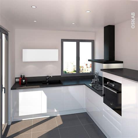 Plan De Cuisine Moderne by Cuisine Blanche Sans Poign 233 E Ipoma Blanc Brillant Home