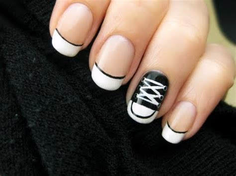 easy nail art converse converse shoe nail art youtube