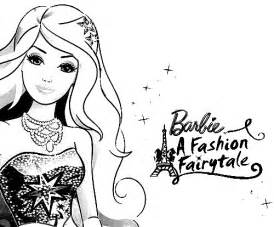 Barbie a fashion fairytale coloring pages kids world