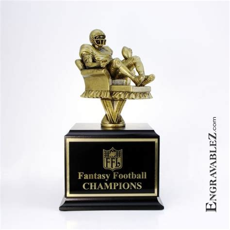 fantasy football armchair trophy armchair quarterback fantasy football trophy www