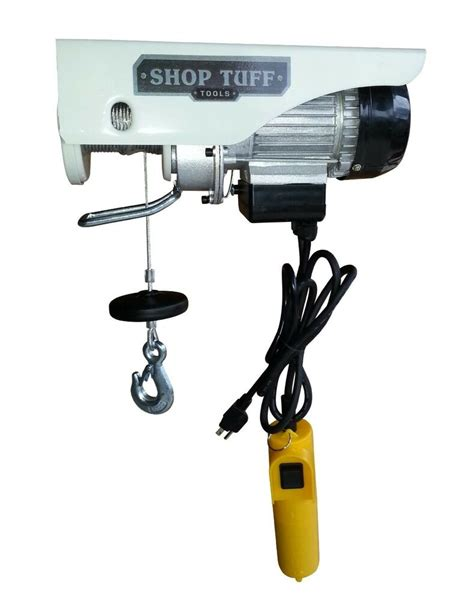 shop tuff electric hoist  lb load hoist   lb double  stf eh  ebay