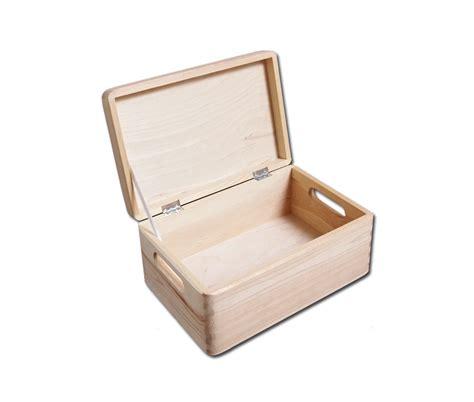 lada legno fai da te 2 x unpainted wooden set chests crates diy tools storage