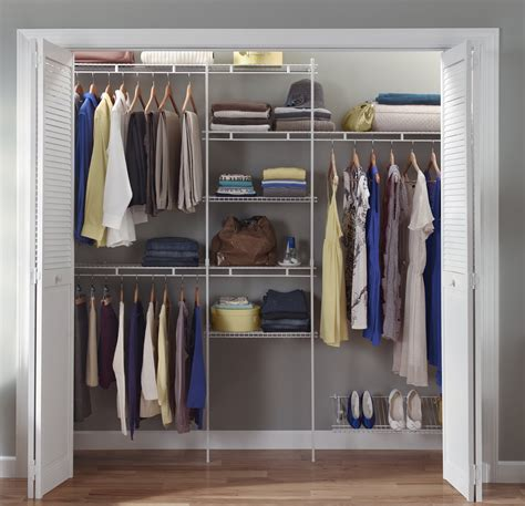 Closet Organization Kits by Closetmaid 1608 5ft To 8 Ft Closet Organizer Kit Ebay