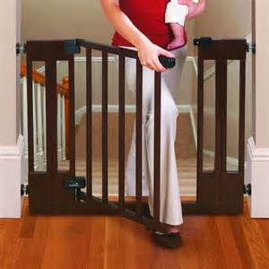 Infant Gates For Stairs by Summer Infant Sure And Secure Deluxe Top Of Stairs Wood