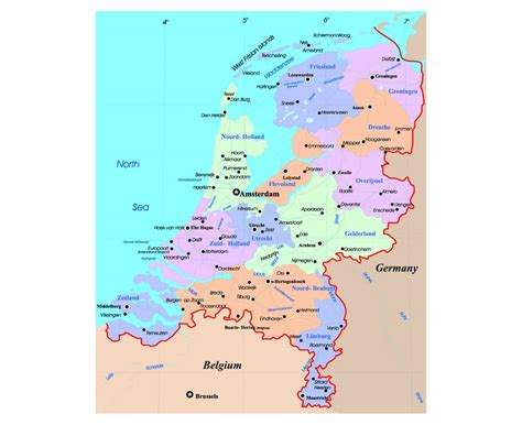 netherlands map major cities maps of netherlands detailed map of netherlands