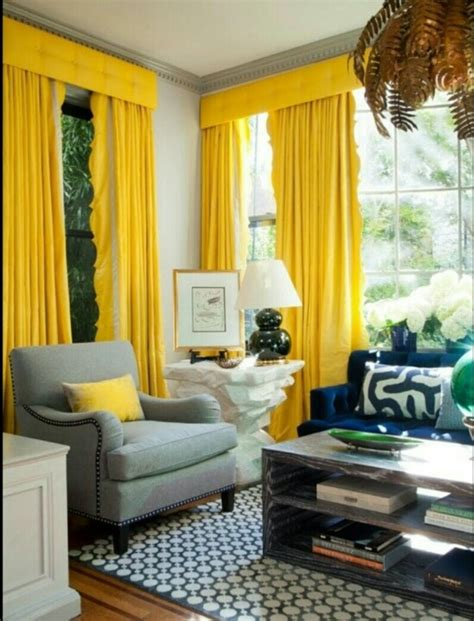 Living Room With Yellow Curtains Bold Analogous Color Scheme Analogous Color Scheme
