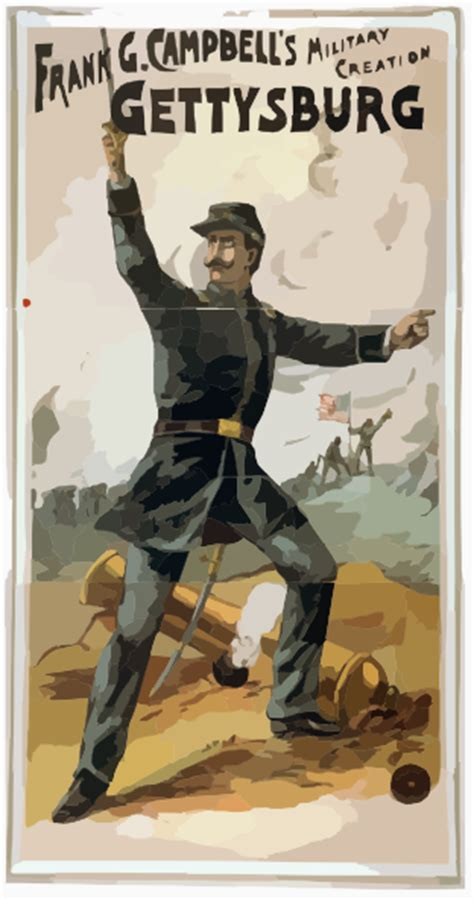 frank  campbell  military creation gettysburg clip art